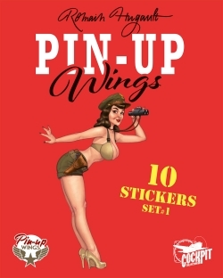 PIN-UP WINGS - POCHETTE DE STICKERS AVION
