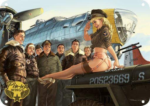 PLAQUE METAL B-17