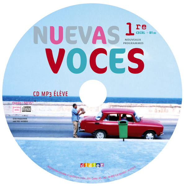 NUEVAS VOCES 1RE - CD MP3 ELEVE DE REMPLACEMENT