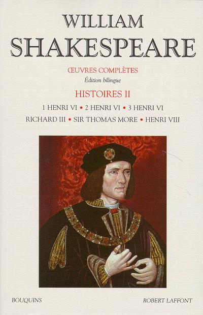 SHAKESPEARE - HISTOIRE - TOME 2 - EDITION BILINGUE FRANCAIS/ANGLAIS - VOLUME 02