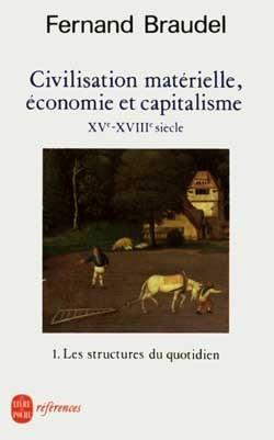 CIVILISATION MATERIELLE, ECONOMIE ET CAPITALISME TOME 1 - LES STRUCTURES DU QUOTIDIEN- XVE- XVIIIE S