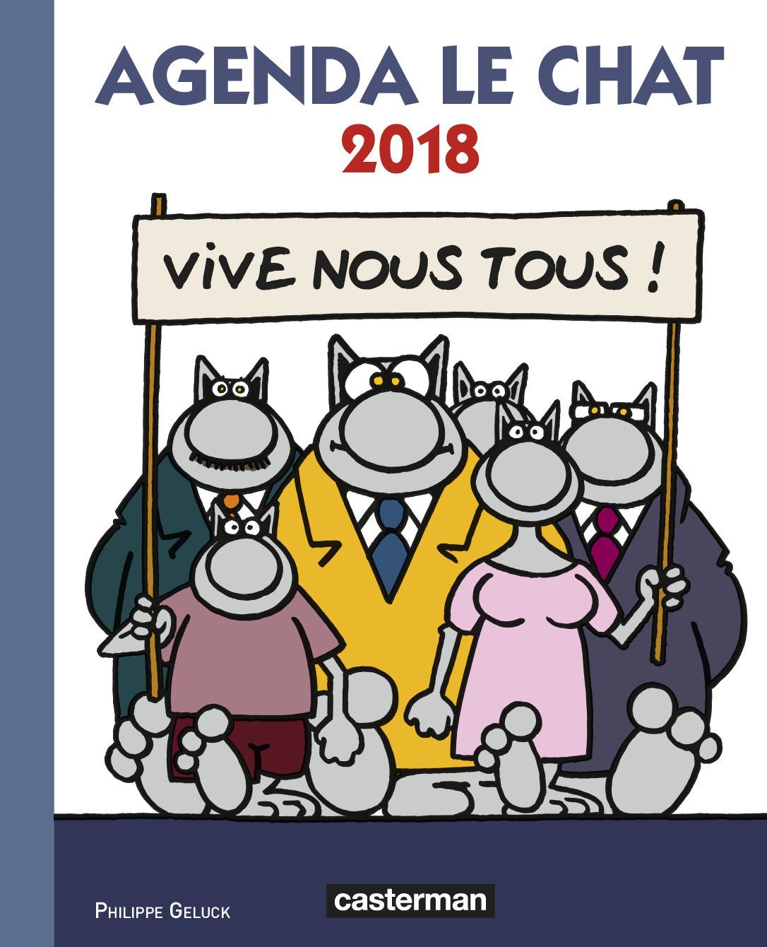PAPETERIE - AGENDA LE CHAT 2018