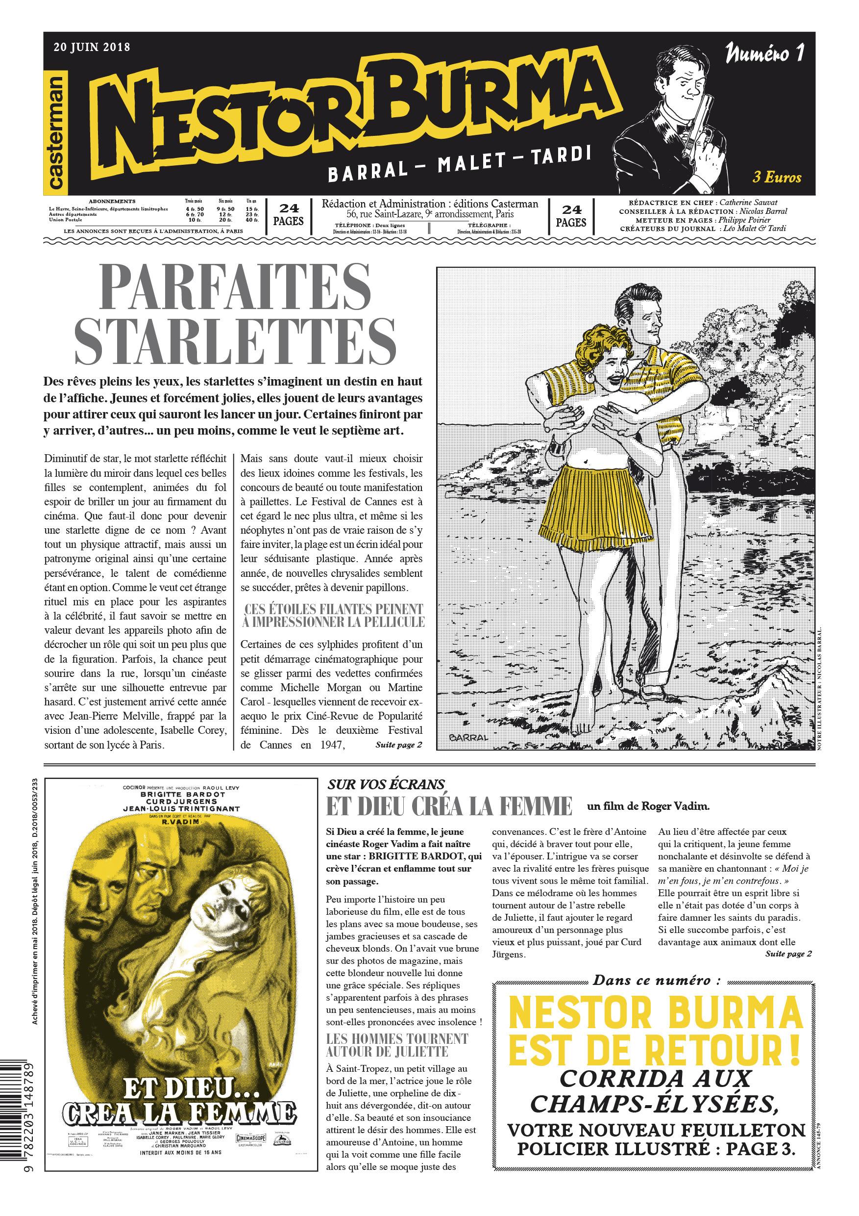 CORRIDA AUX CHAMPS-ELYSEES - JOURNAL NUMERO 1