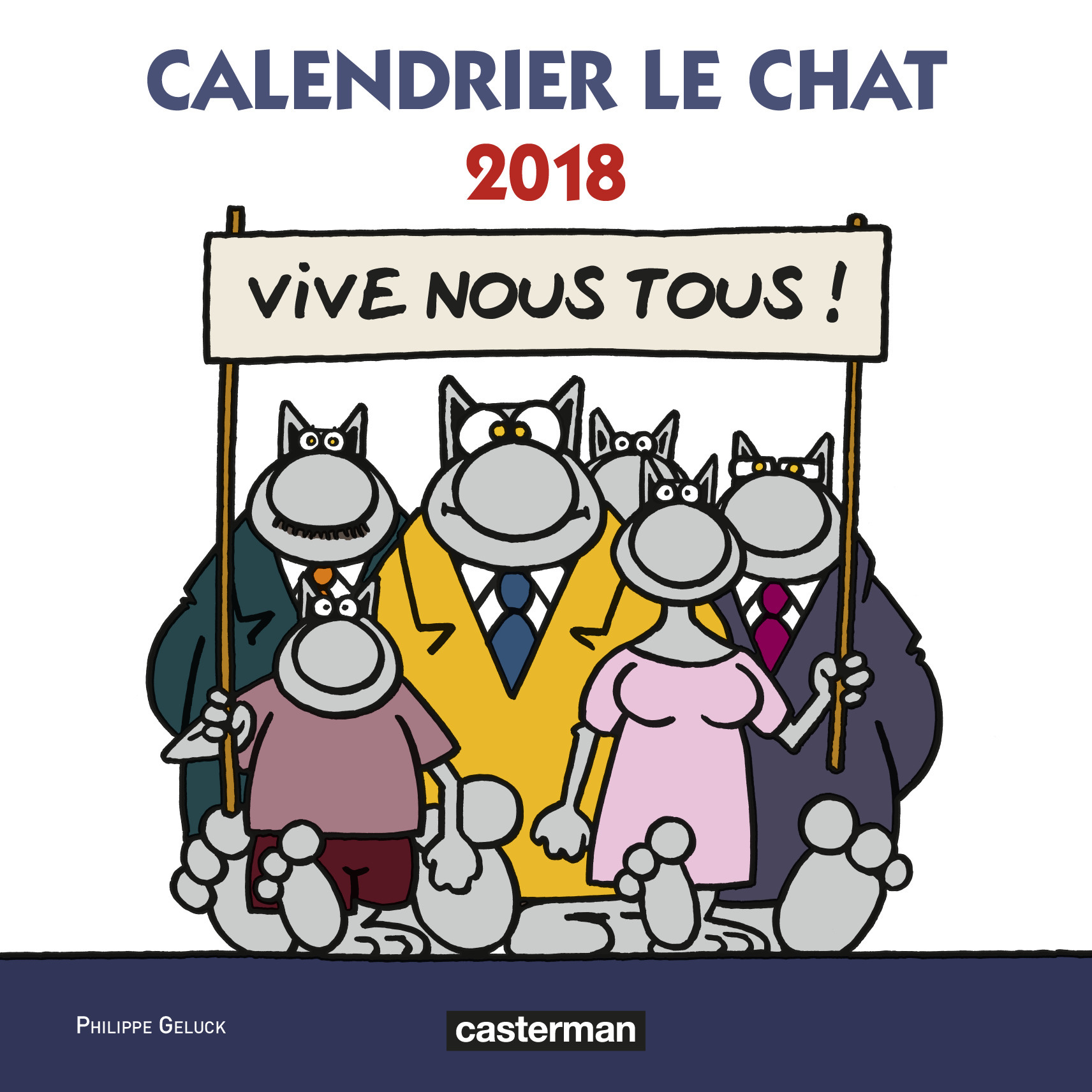 PAPETERIE - CALENDRIER LE CHAT 2018