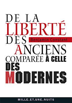 DE LA LIBERTE DES ANCIENS COMPAREE A CELLE DES MODERNES