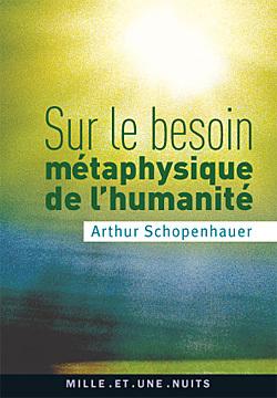 SUR LE BESOIN METAPHYSIQUE DE L'HUMANITE