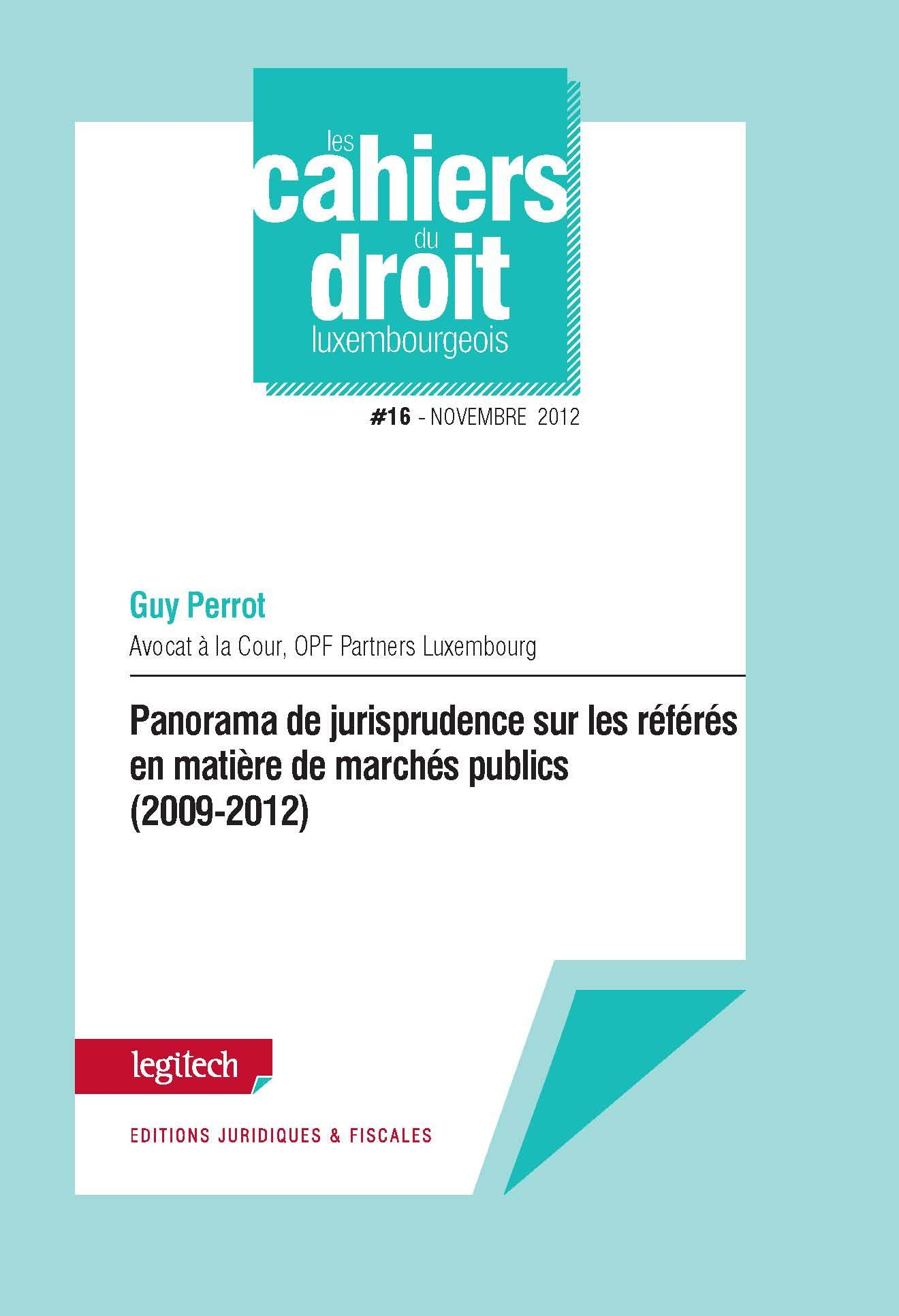 CAHIER DU DROIT LUXEMBOURGEOIS N 16