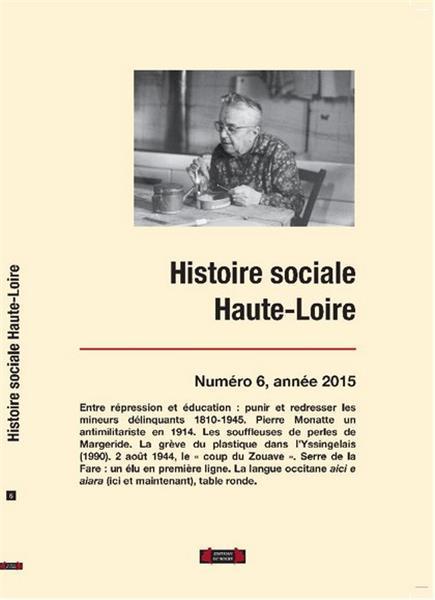 HISTOIRE SOCIALE HAUTE-LOIRE, NUMERO 6