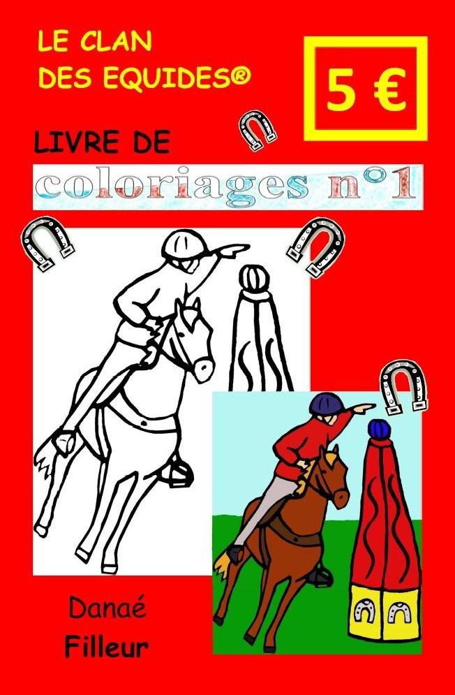 LE CLAN DES EQUIDES, LIVRE DE COLORIAGES N 1