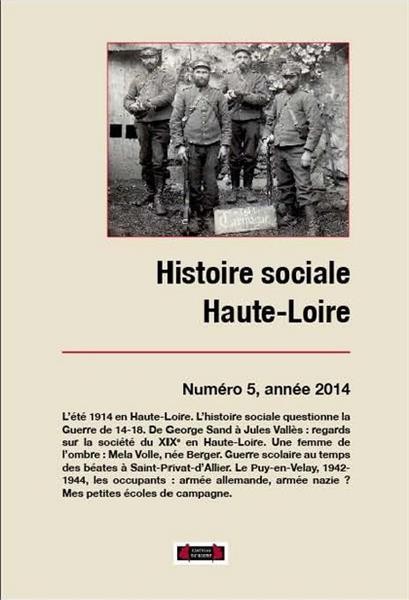 HISTOIRE SOCIALE HAUTE-LOIRE, NUMERO 5