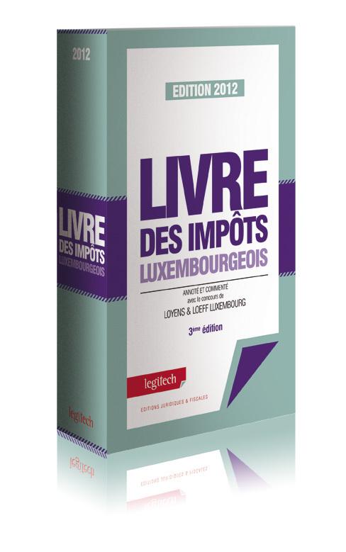 LIVRE DES IMPOTS LUXEMBOURGEOIS 2012