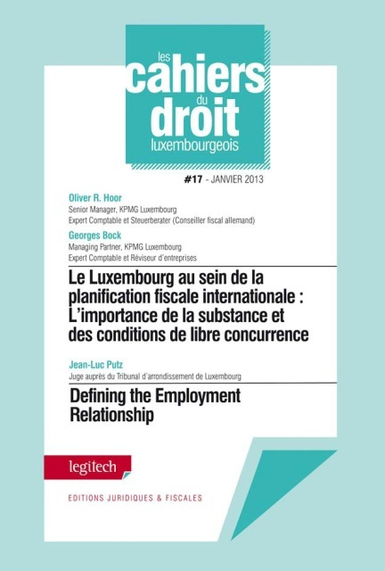 CAHIER DU DROIT LUXEMBOURGEOIS N 17