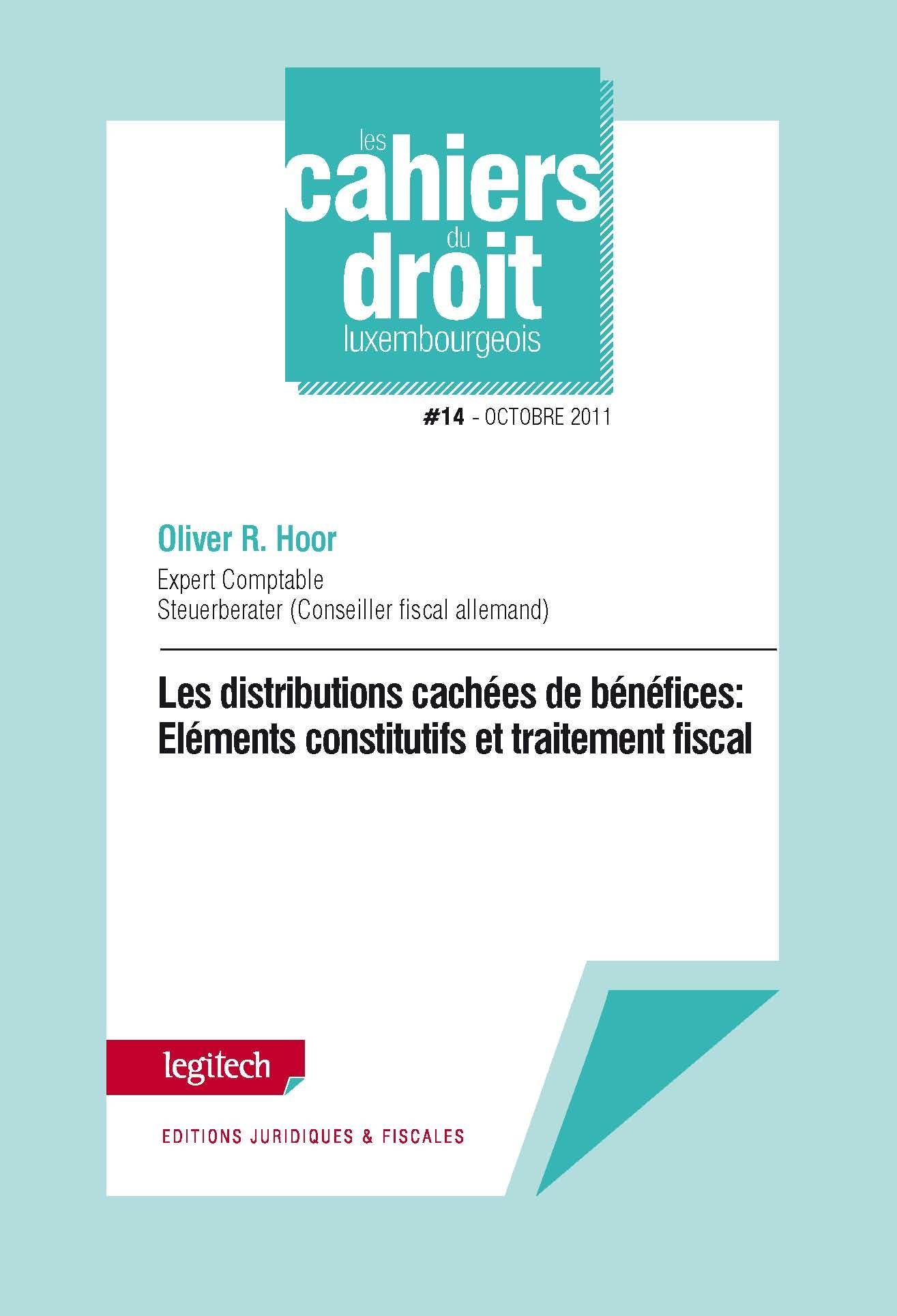 CAHIER DU DROIT LUXEMBOURGEOIS N 14