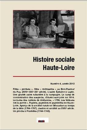 HISTOIRE SOCIALE HAUTE-LOIRE, NUMERO 4