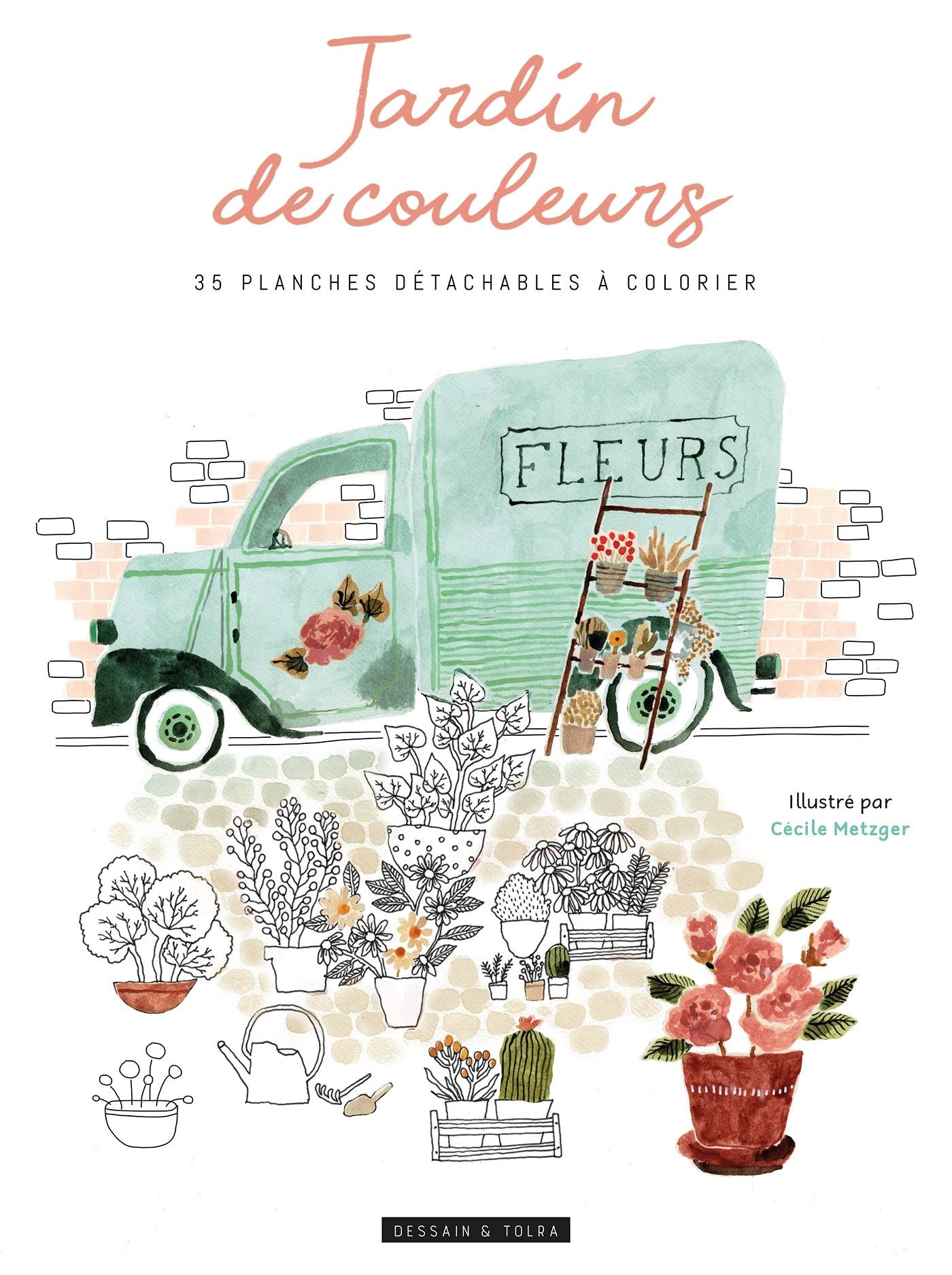 JARDINS DE COULEURS - 35 PLANCHES DETACHABLES A COLORIER