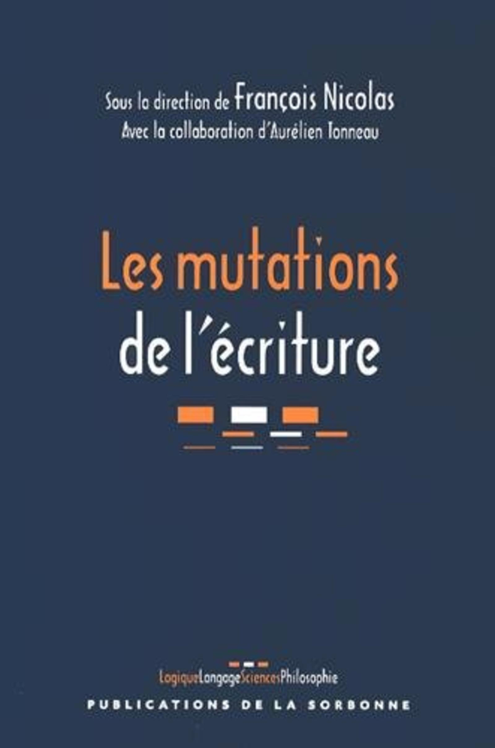 LES MUTATIONS DE L'ECRITURE