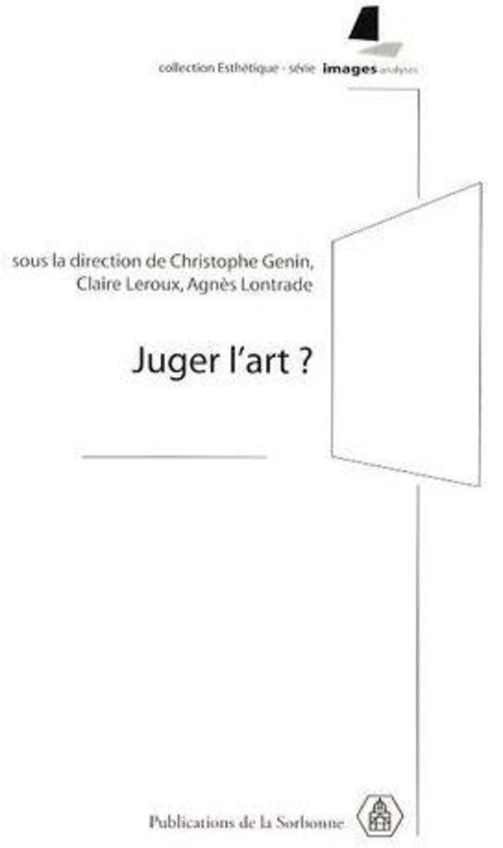 JUGER L'ART ?