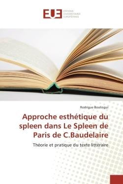 APPROCHE ESTHETIQUE DU SPLEEN DANS LE SPLEEN DE PARIS DE C.BAUDELAIRE