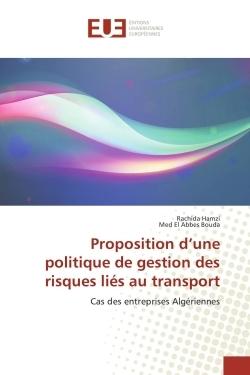 PROPOSITION D'UNE POLITIQUE DE GESTION DES RISQUES LIES AU TRANSPORT