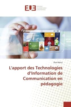 L'APPORT DES TECHNOLOGIES D'INFORMATION DE COMMUNICATION EN PEDAGOGIE