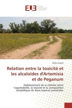 RELATION ENTRE LA TOXICITE ET LES ALCALOIDES D'ARTEMISIA ET DE PEGANUM