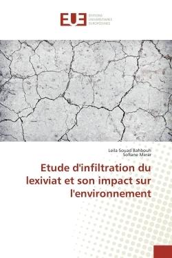 ETUDE D'INFILTRATION DU LEXIVIAT ET SON IMPACT SUR L'ENVIRONNEMENT