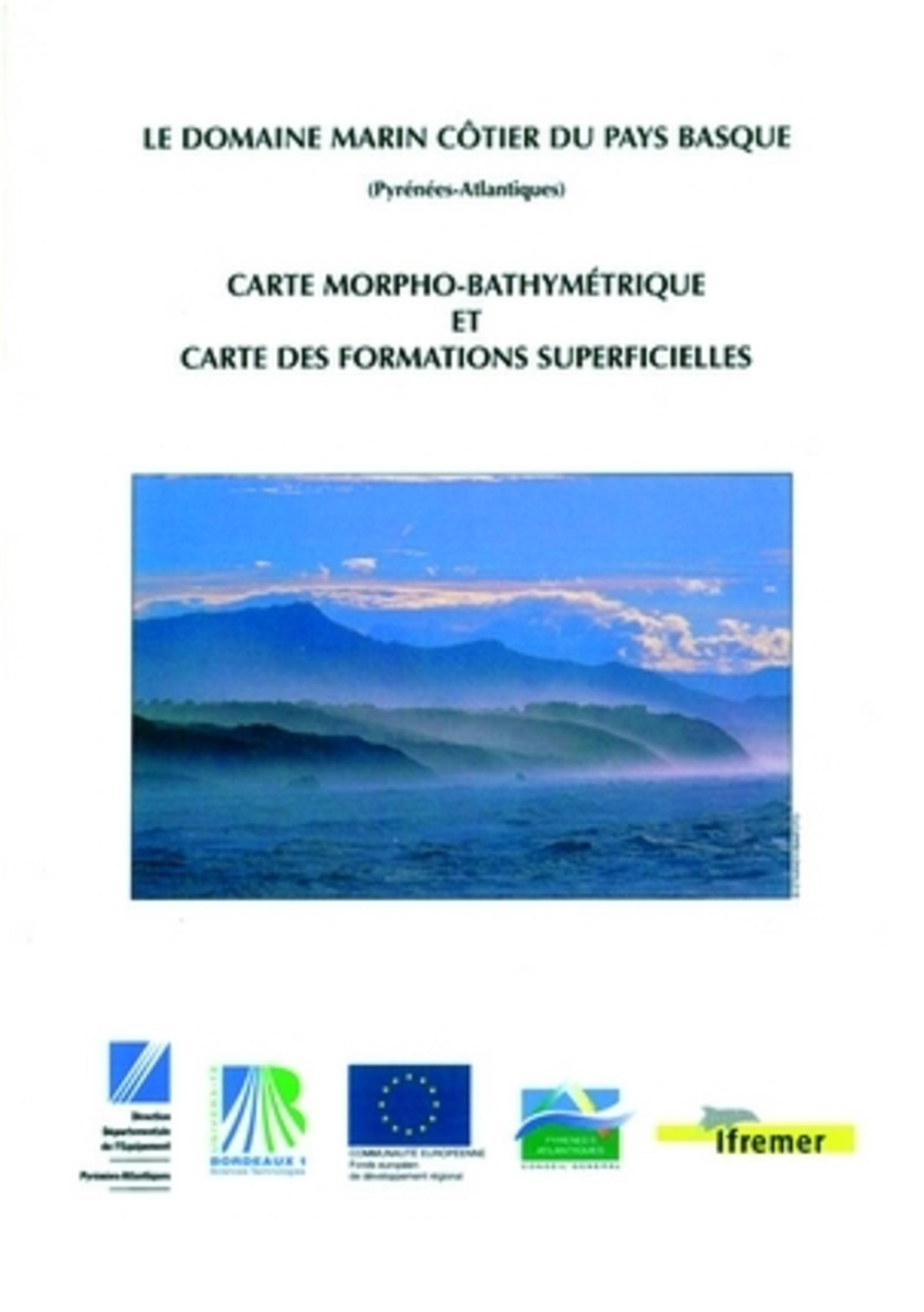 LE DOMAINE MARIN COTIER DU PAYS BASQUE (PYRENEES-ATLANTIQUES) - CARTE MORPHO-BATHYMETRIQUE ET CA