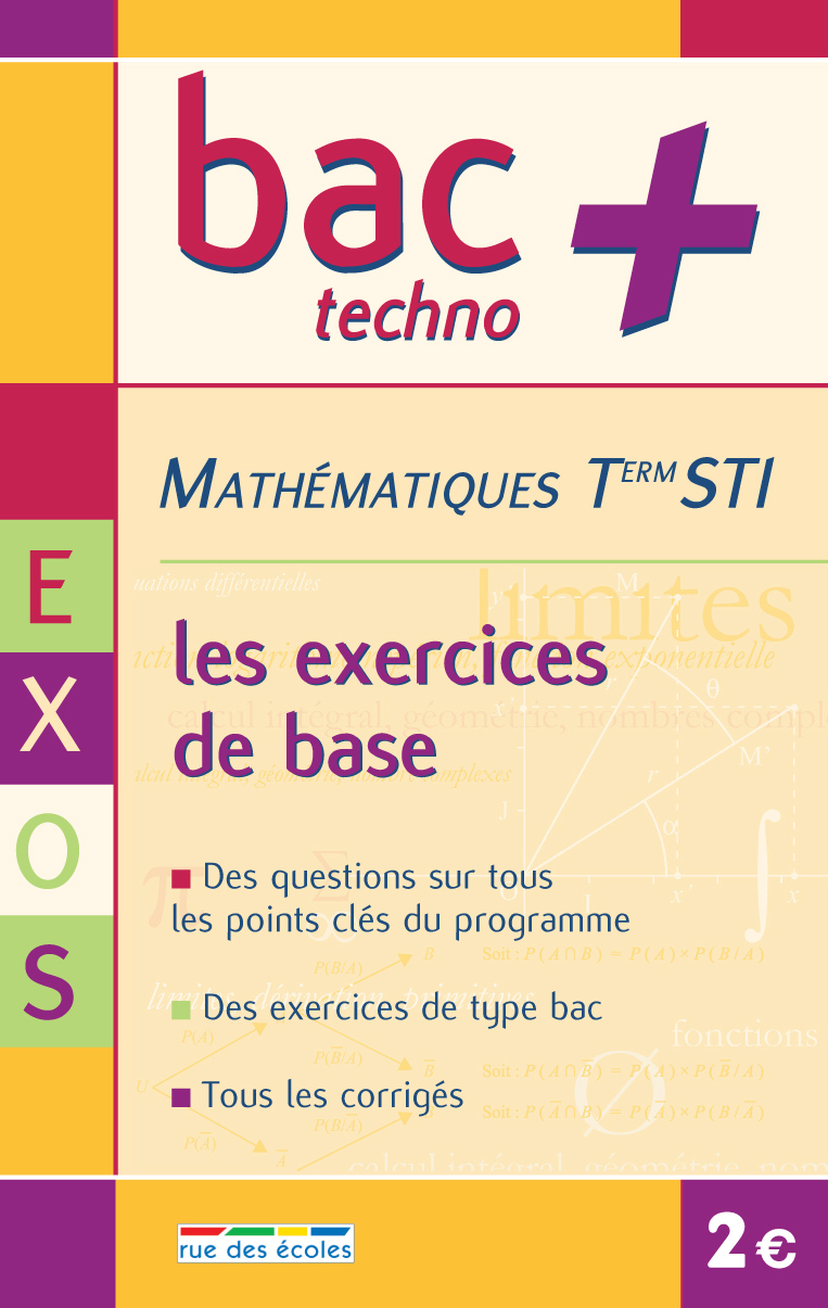 BAC+ TSTI MATHS EXERCICES