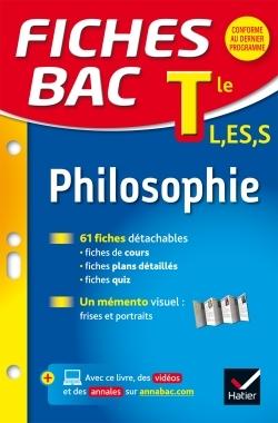 1 - FICHES BAC PHILOSOPHIE TLE L, ES, S - FICHES DE REVISION - TERMINALE SERIES GENERALES