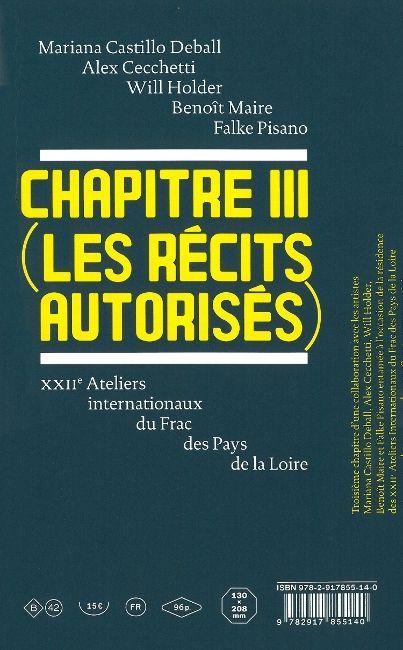 CHAPITRE III (LES RECITS AUTORISES) - BILINGUE FRANCAIS / ANGLAIS