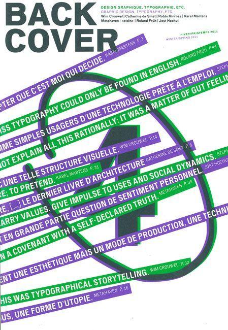BACK COVER N 4 - DESIGN GRAPHIQUE, TYPOGRAPHIE, ETC.