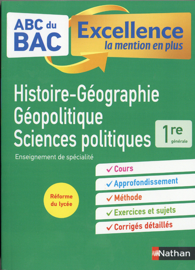 ABC EXCELLENCE HG GEOPOLITIQUE ET SCIENCES POLITIQUES 1RE