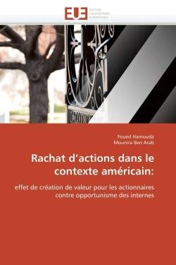 RACHAT D ACTIONS DANS LE CONTEXTE AMERICAIN: