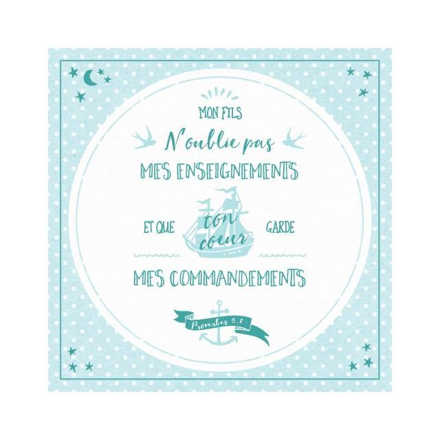 TABLEAU : MES COMMANDEMENTS - PROVERBE 3.1