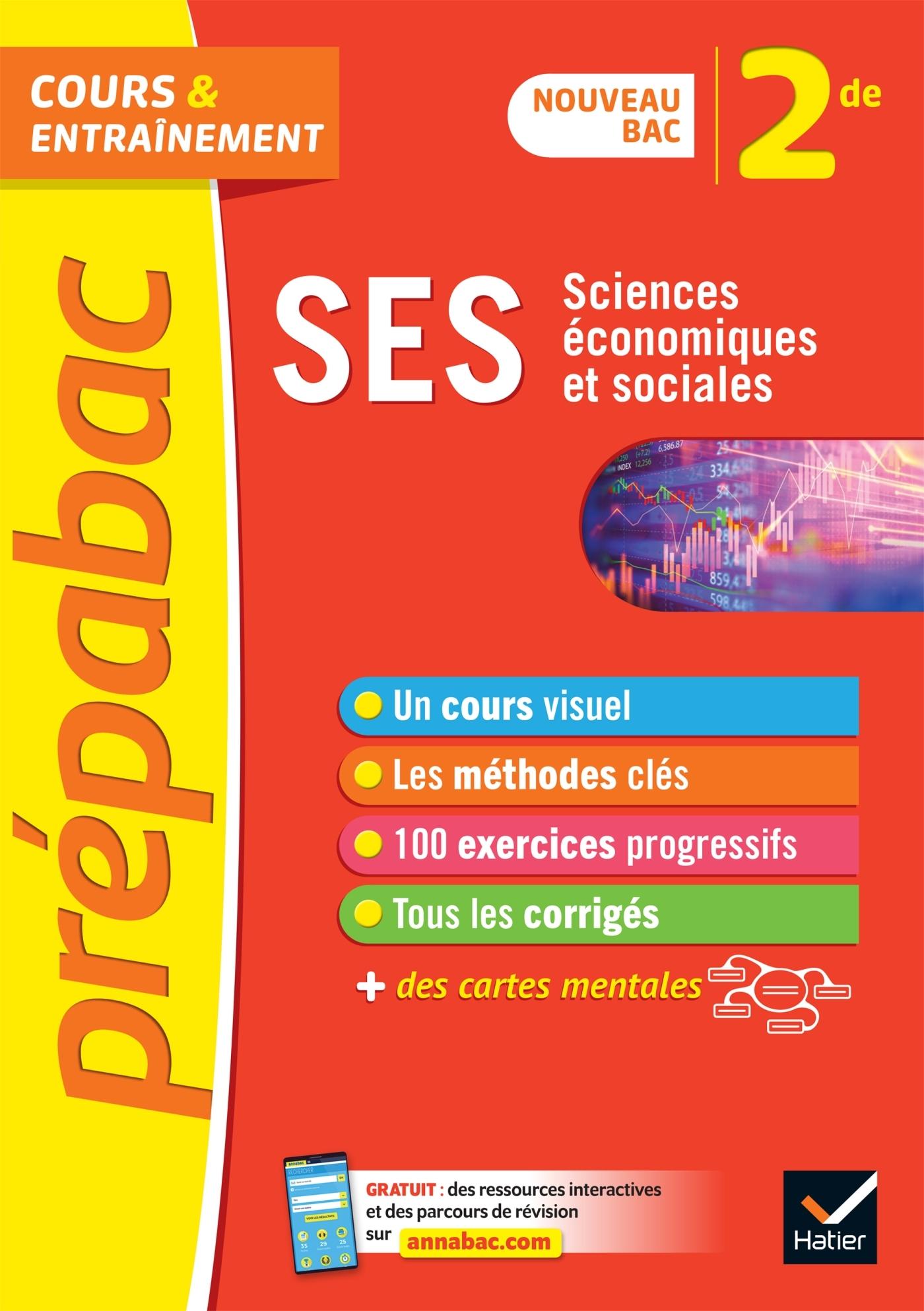 SES 2DE - PREPABAC COURS & ENTRAINEMENT - NOUVEAU PROGRAMME DE SECONDE