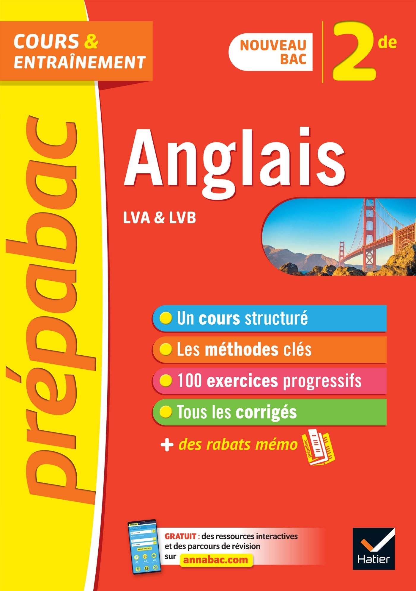 ANGLAIS 2DE - PREPABAC COURS & ENTRAINEMENT