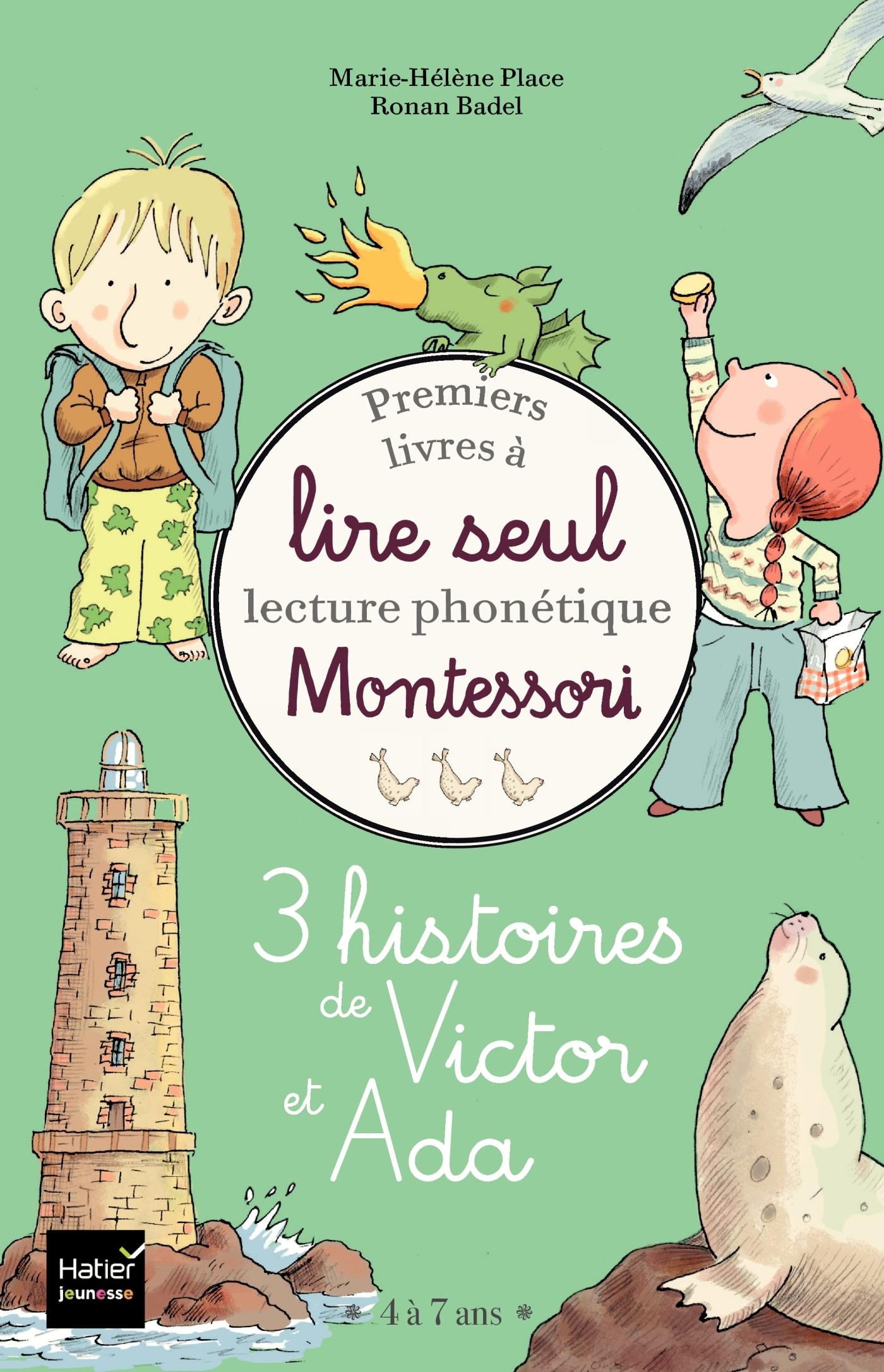COFFRET PREMIERS LIVRES A LIRE SEUL - 3 HISTOIRES DE VICTOR ET ADA - NIVEAU 3+ PEDAGOGIE MONTESSOR