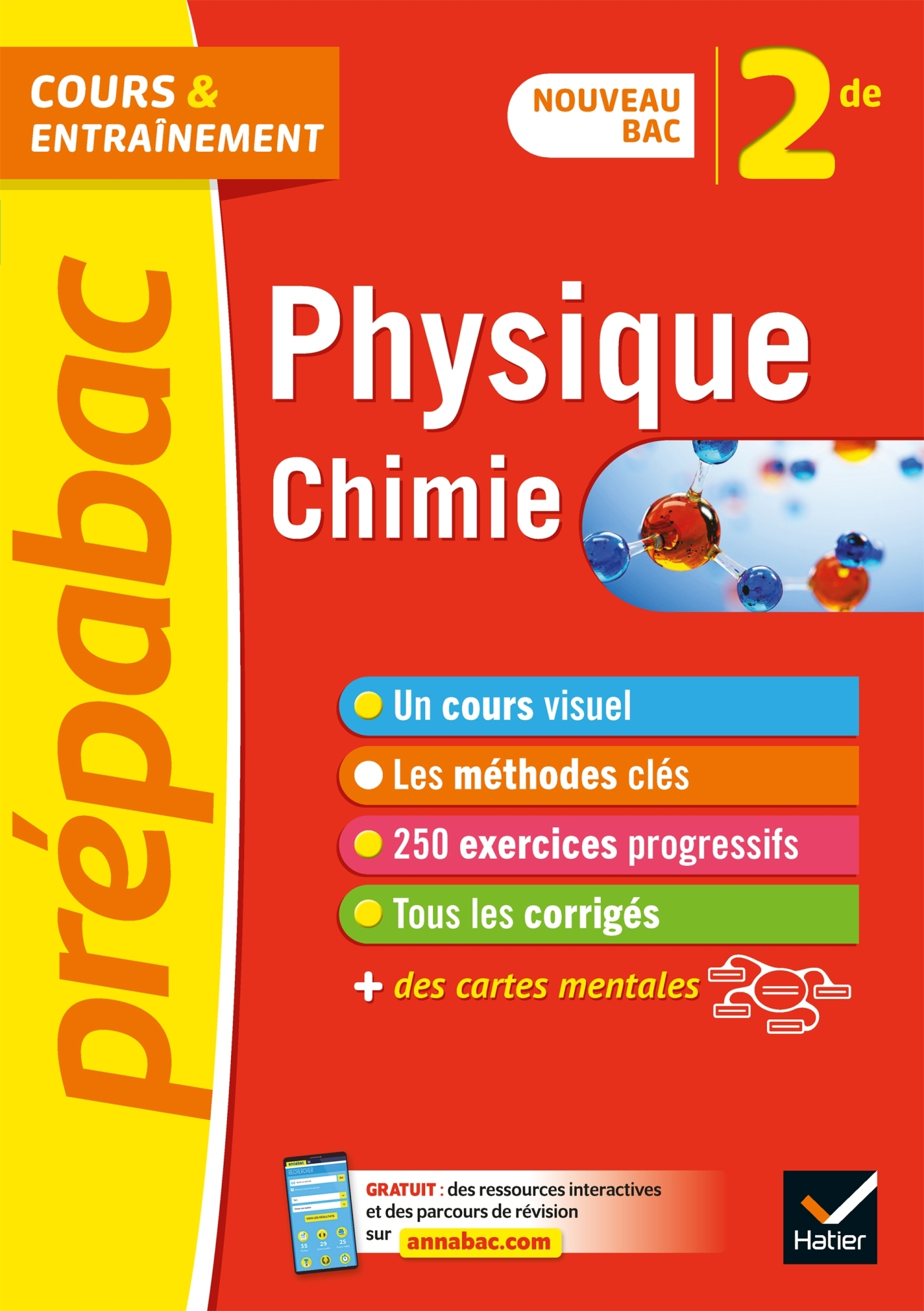 PHYSIQUE-CHIMIE 2DE - PREPABAC COURS & ENTRAINEMENT - NOUVEAU PROGRAMME DE SECONDE