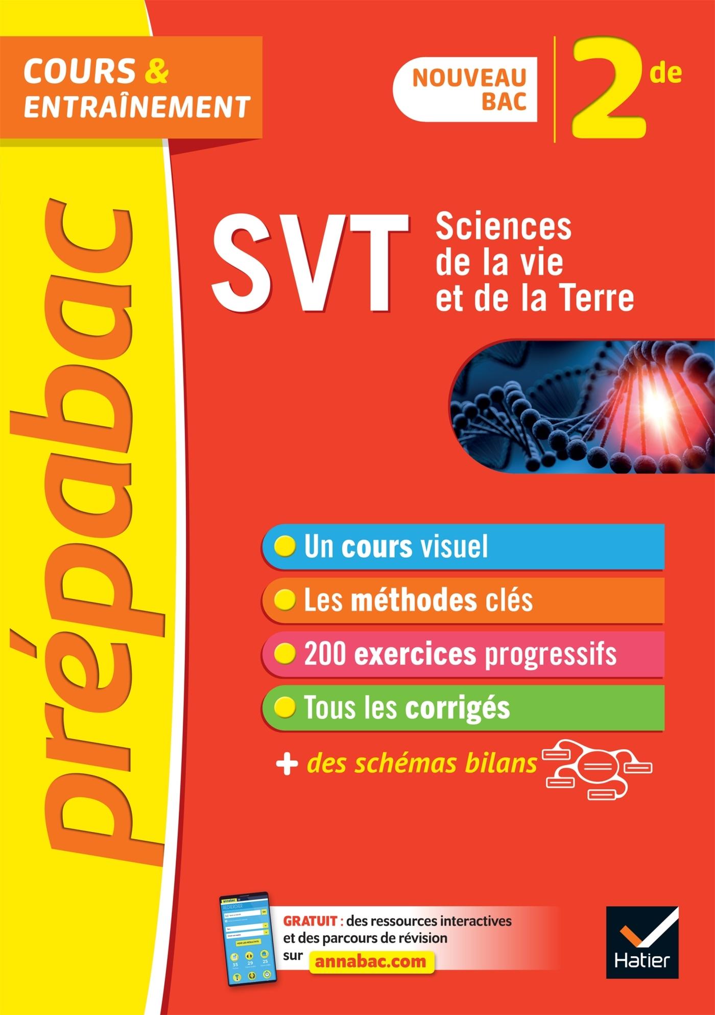 SVT 2DE - PREPABAC COURS & ENTRAINEMENT - NOUVEAU PROGRAMME DE SECONDE