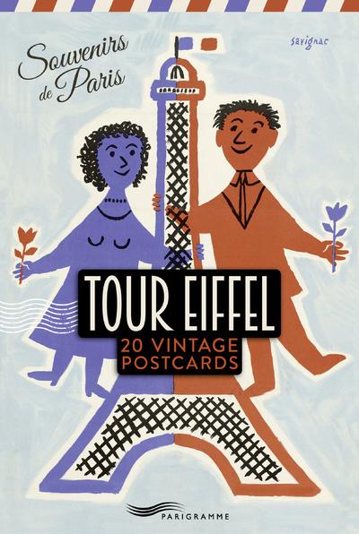 TOUR EIFFEL 20 VINTAGE POSTCARDS