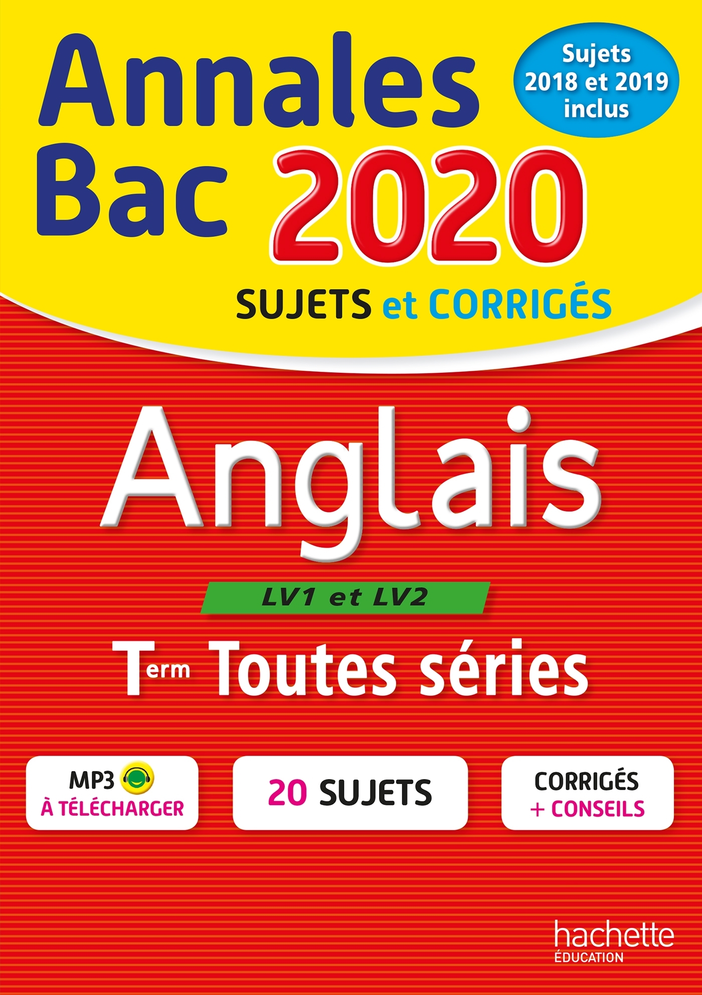 ANNALES BAC 2020 ANGLAIS TERM TOUTES SERIES