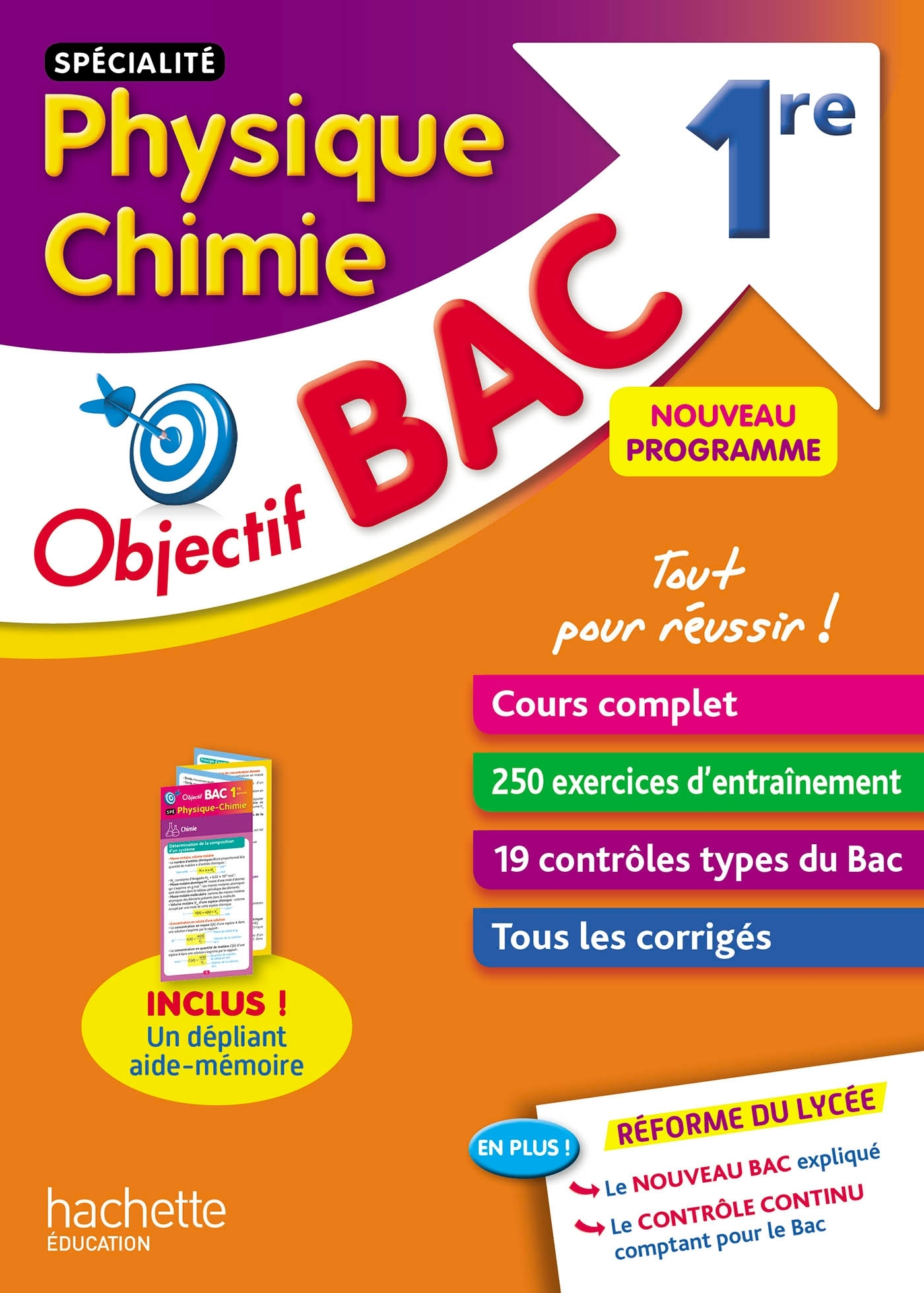 OBJECTIF BAC SPECIALITE PHYSIQUE CHIMIE 1ERE