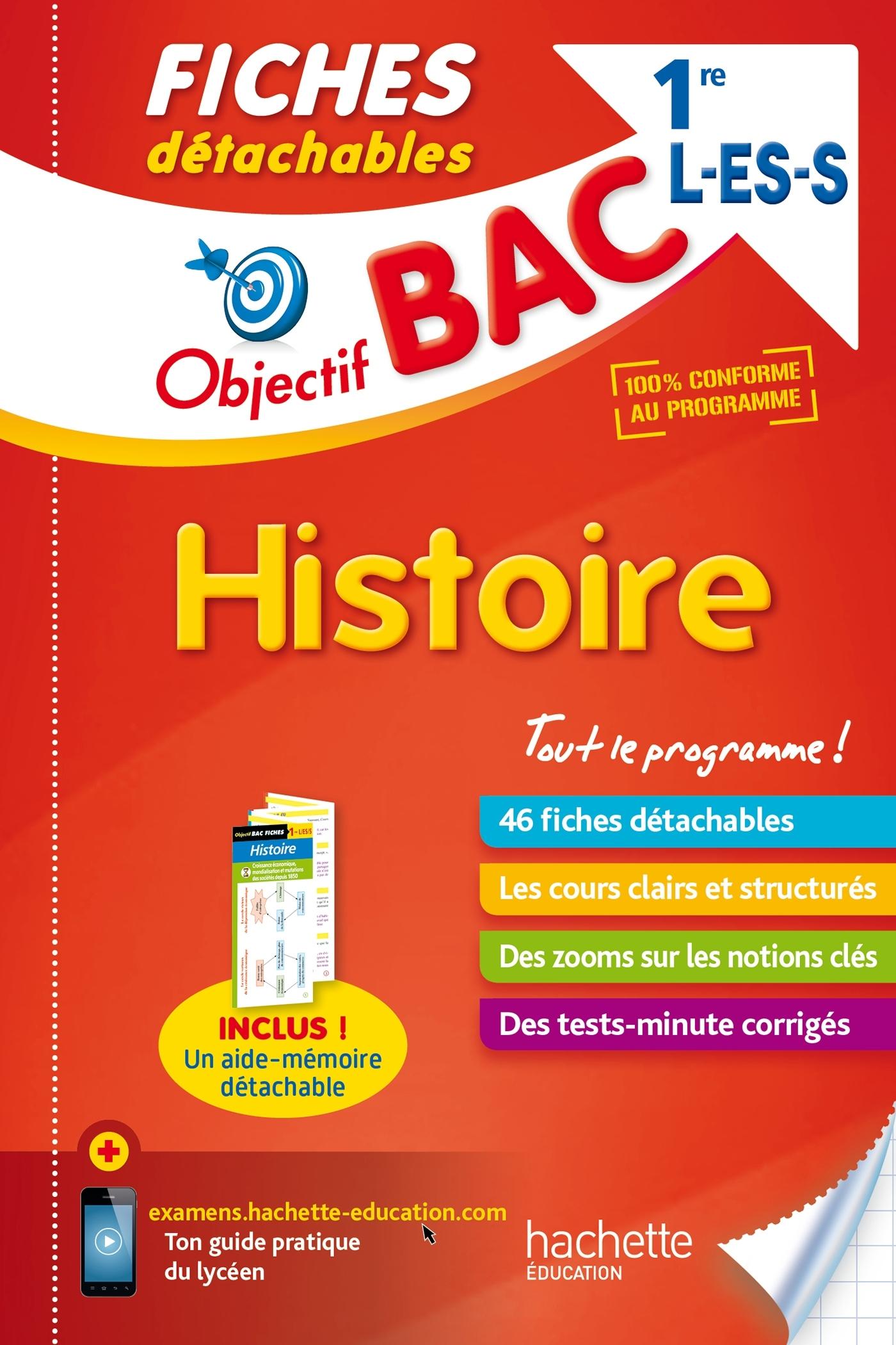 OBJECTIF BAC FICHES DETACHABLES HISTOIRE 1ERES L/ES/S