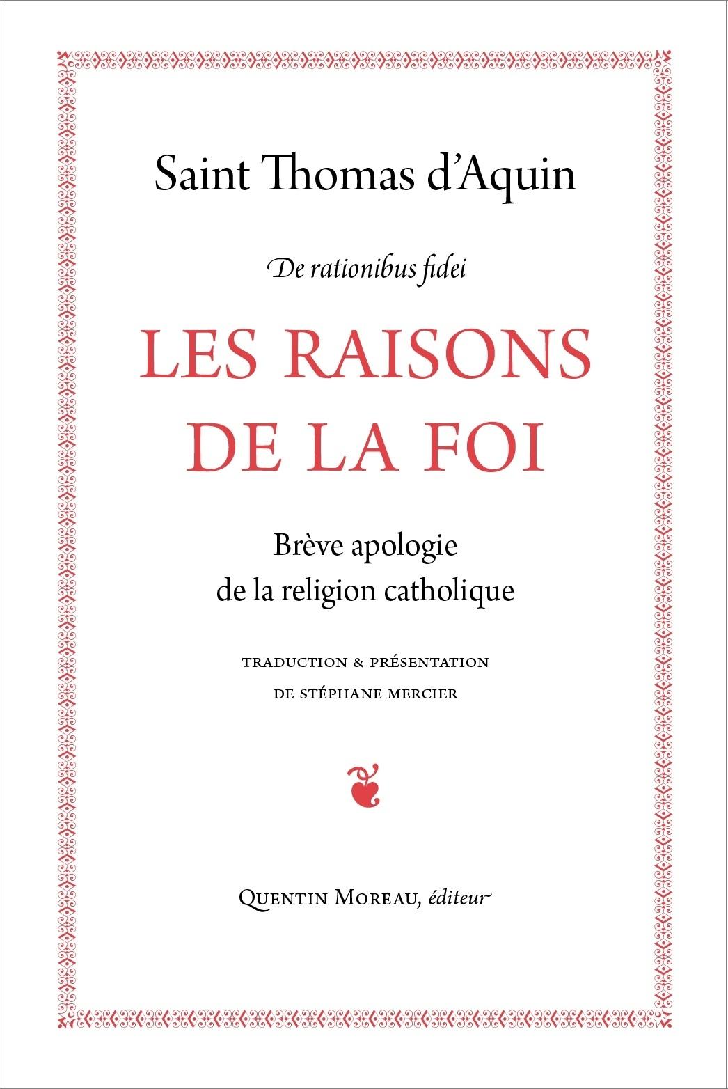 LES RAISONS DE LA FOI