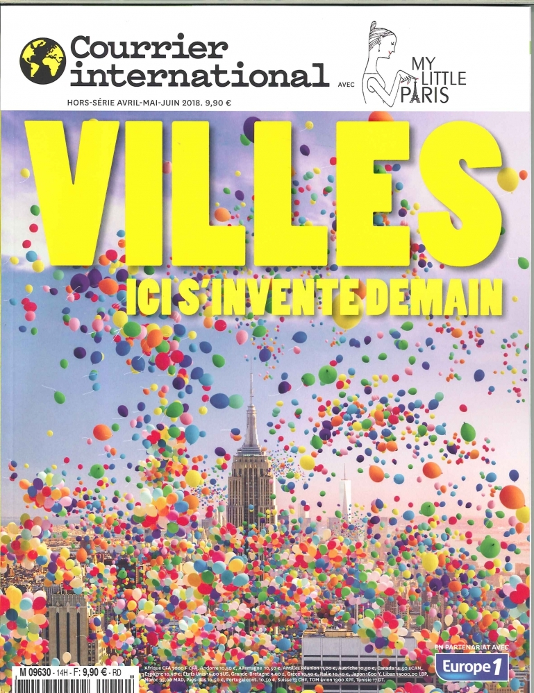COURRIER INTERNATIONAL  HS N 14 VILLES, ICI S'INVENTE DEMAIN (MY LITTLE PARIS)  - AVRIL 2018