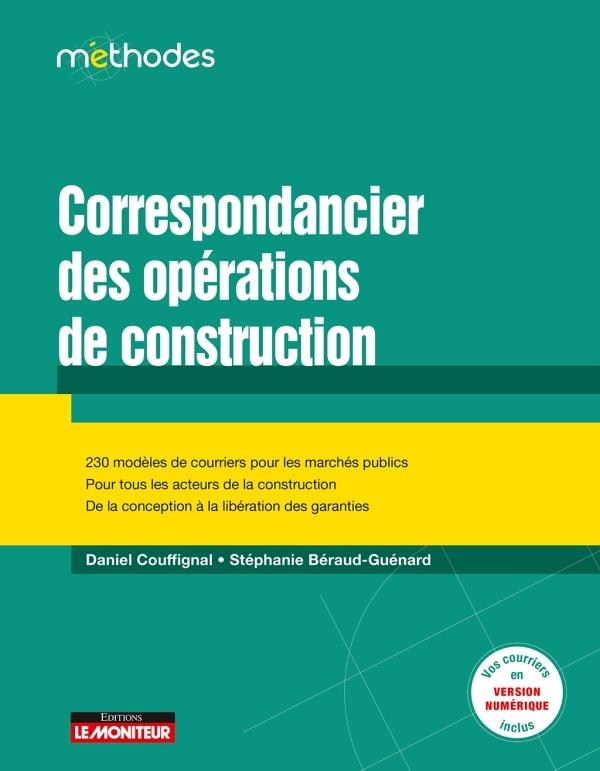 CORRESPONDANCIER DES OPERATIONS DE CONSTRUCTION