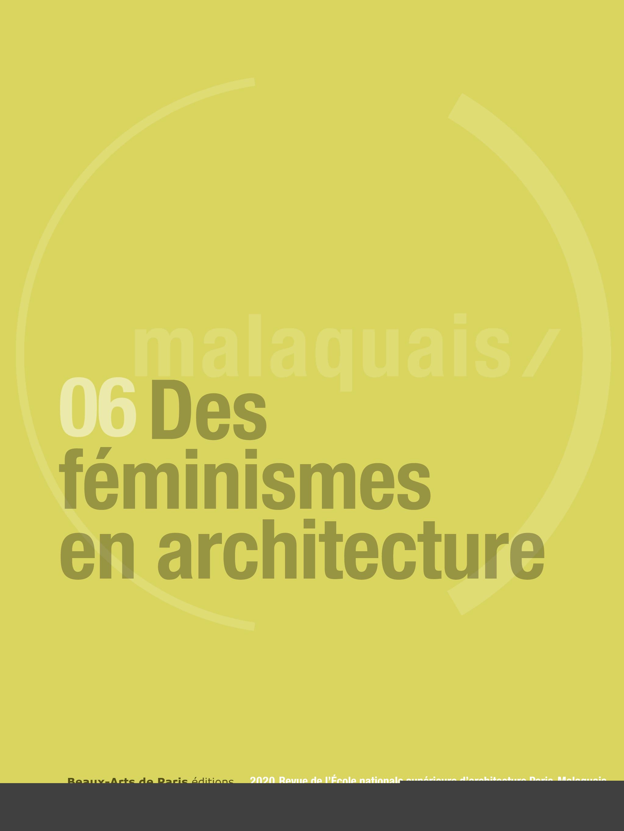 REVUE MALAQUAIS DES FEMINISMES EN ARCHITECTURES