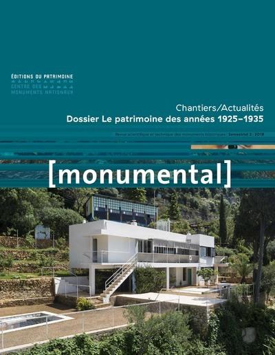 MONUMENTAL 2018-2 LE PATRIMOINE DES ANNEES 1925-1935