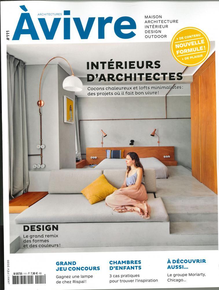 ARCHITECTURES A VIVRE N 111 INTERIEURS D'ARCHITECTES - JANVIER/FEVRIER 2020