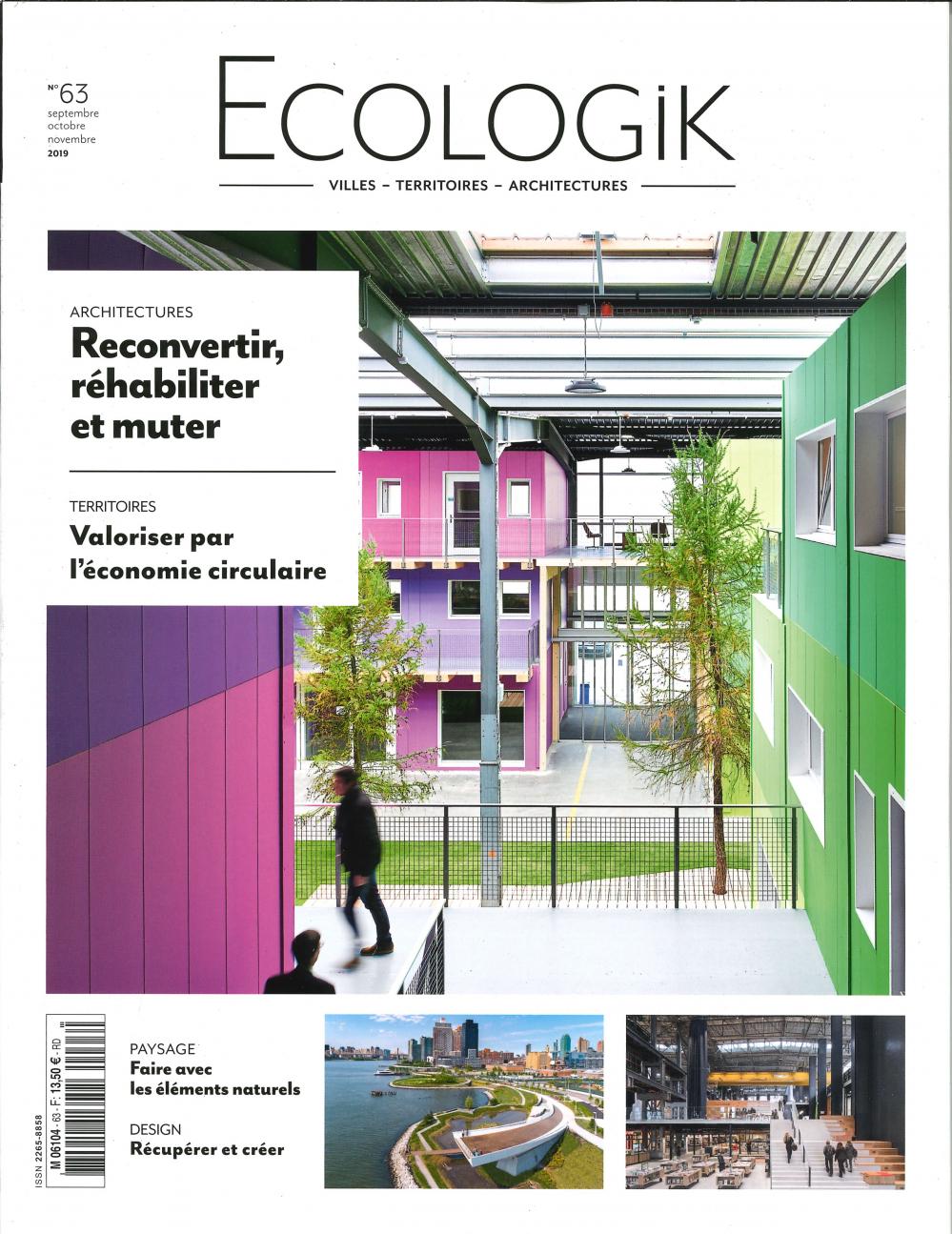 ECOLOGIK N 63  - SEPTEMBRE/OCTOBRE/NOVEMBRE 2019